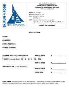 5k Run 4 Food Registration Form