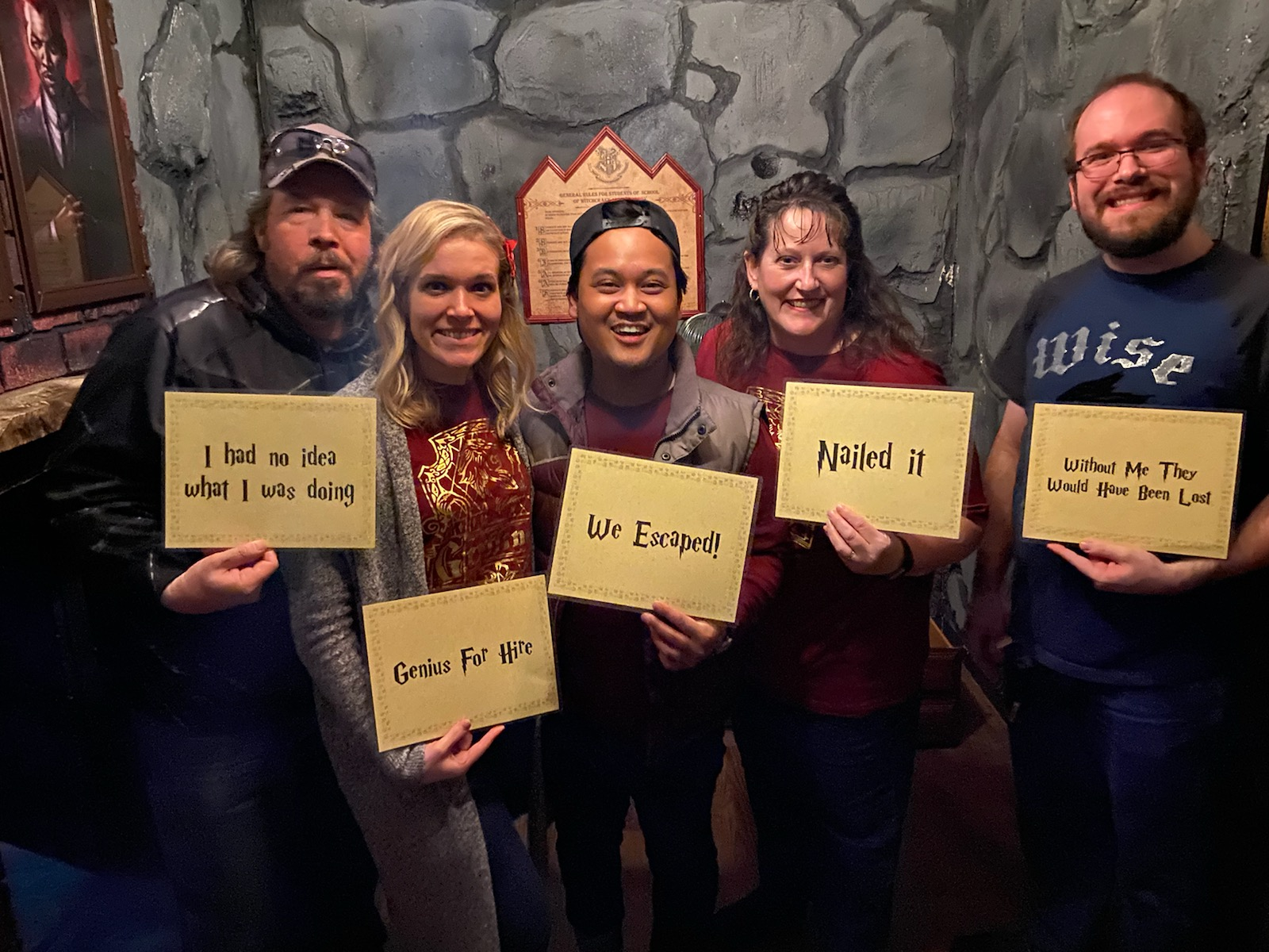 Kayla with Family - Harry Potter Escape Room